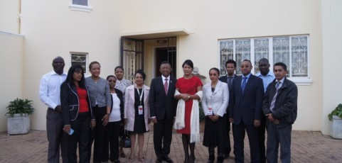 Visit of the President Hery Rajaonarimampianina in South Africa
