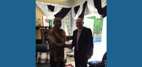 Courtesy call of the newly appointed Consul General of Namibia